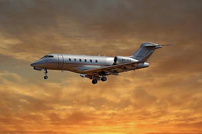Vista Jet Bombardier Challenger 300 2 Art Print