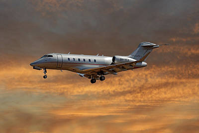 Jet Photograph - Vista Jet Bombardier Challenger 300 3 by Smart Aviation