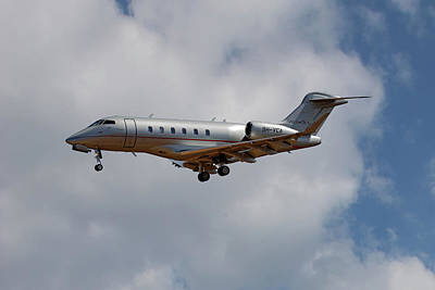 Jet Photograph - Vista Jet Bombardier Challenger 300 5 by Smart Aviation