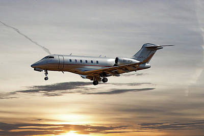 Jet Photograph - Vista Jet Bombardier Challenger 300 by Smart Aviation