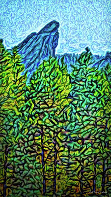 Digital Art - Vista Through The Woods by Joel Bruce Wallach
