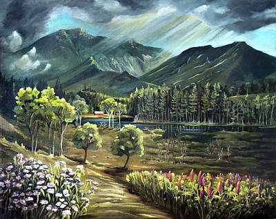 Painting - Vista View Of Cannon Mountain by Nancy Griswold