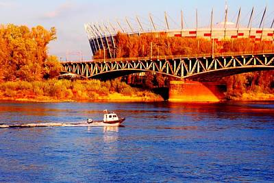 Photograph - Vistula And The National Stadium In Warsaw by Dora Hathazi Mendes