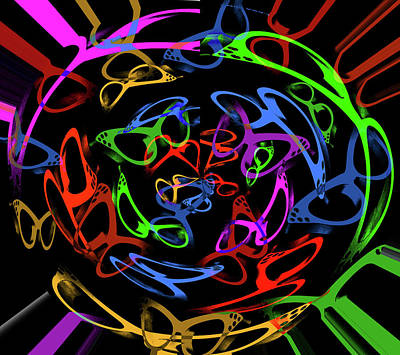 Photograph - Visual Distinction Pattern Print Swirl by Lesa Fine