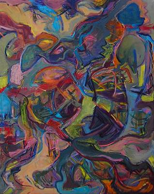Expressionist Painting - Visual Jazz #8 by Philip Rader