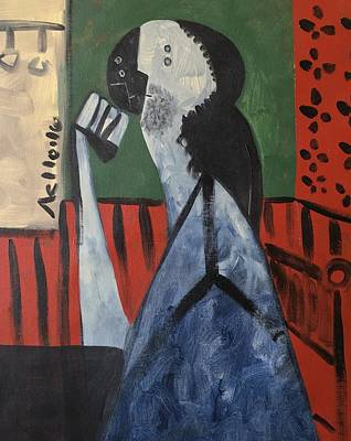 Vitae Thinking Man At The Tea House  Original