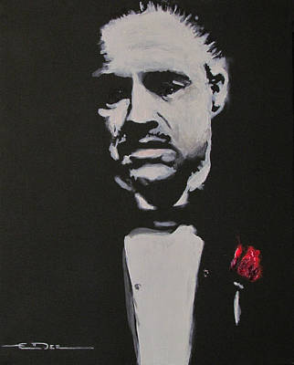 The Godfather Painting - Vito Andolini Corleone by Eric Dee