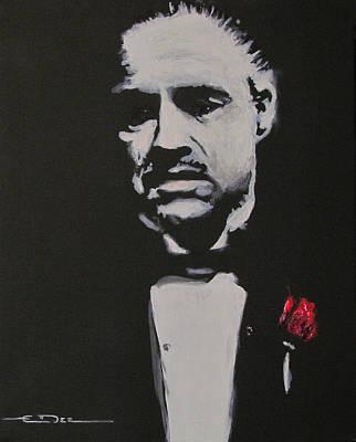 Marlon Brando Painting - Vito Andolini Corleone by Eric Dee