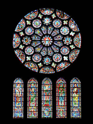 Photograph - Vitraux - Cathedrale De Chartres - France by Jean-Pierre Ducondi