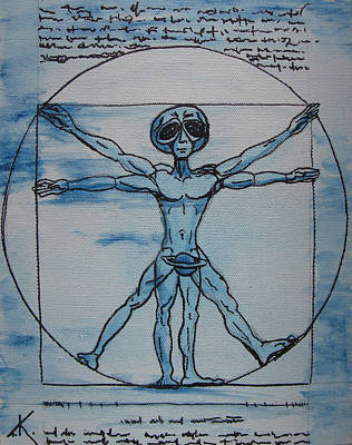 Painting - Vitruvian Alien by Similar Alien