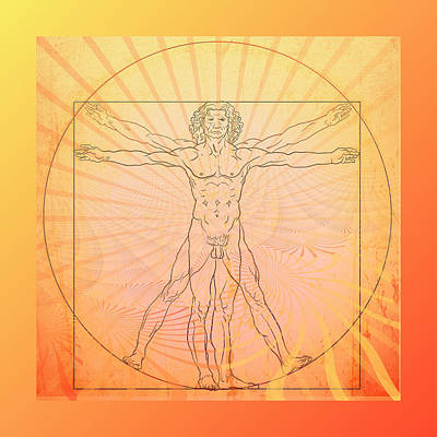 Photograph - Vitruvian Man Beach by Robert G Kernodle