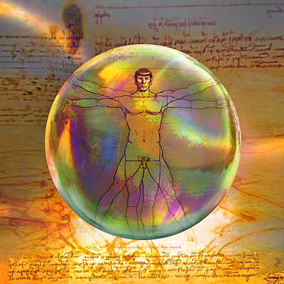 Digital Art - Vitruvian Vulcan by Robin Moline