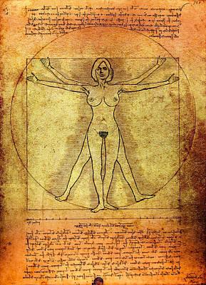 Vitruvian Woman Art Print