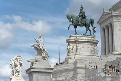 Vittoriano Equestrian Statue II Art Print