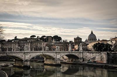 Photograph - Vittorio Emanuele II Bridge In Rome by Jiri Vatka