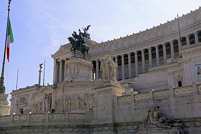 Photograph - Vittorio Emanuele II Monument by Tony Murtagh