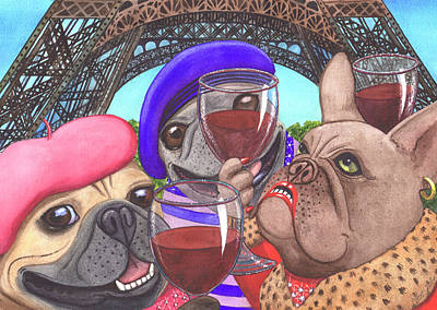 Painting - Viva La France by Catherine G McElroy