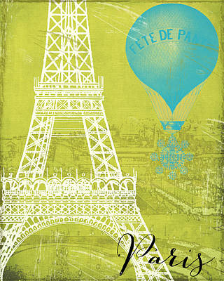 Cities Paintings - Viva La Paris by Mindy Sommers