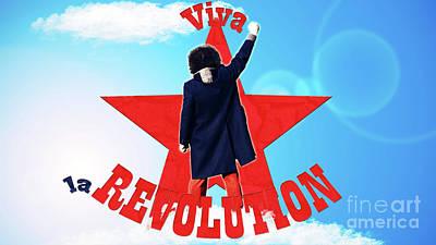 Communist Mixed Media - Viva La Revolution by Aleksandar Ilic