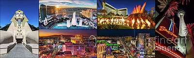 Photograph - Viva Las Vegas Collection Panorama by Aloha Art
