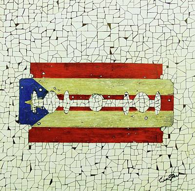 Wall Art - Painting - Viva Porto Rico by Emil Bodourov