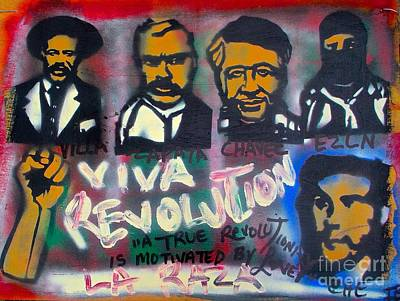 Free Speech Painting - Viva Revolution by Tony B Conscious