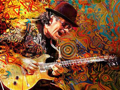 Musicians Royalty Free Images - Viva Santana Royalty-Free Image by Mal Bray
