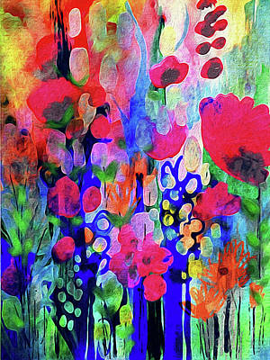 Vivacious Blooms Art Print by Robin Mead