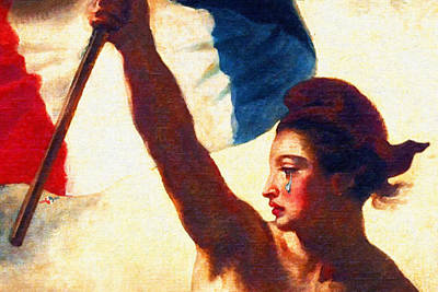 Painting - Vive La France Liberty Weeps by Tony Rubino