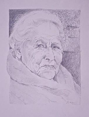 Character Study Photograph - Vivian At 98 by Bonnie See