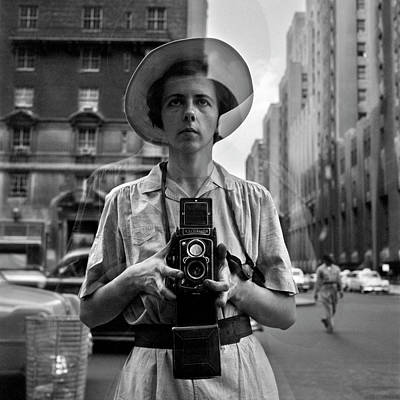 Self Photograph - Vivian Maier Self Portrait by Hans Wolfgang Muller Leg