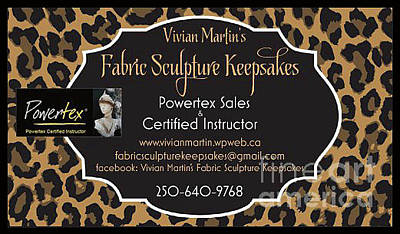 Photograph - Vivian Martin's Fabric Sculpture Keepsakes by Vivian Martin