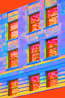 Photograph - Vivid Abstract Window Reflections by Betty Denise
