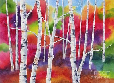 Vivid Autumn Art Print by Deborah Ronglien