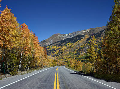Photograph - Vivid Fall Colors On The Million-dollar Highway In San Juan County In Colorado  by Carol M Highsmith