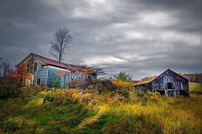 Photograph - Vivid Farmhouse Memories by Chris Bordeleau