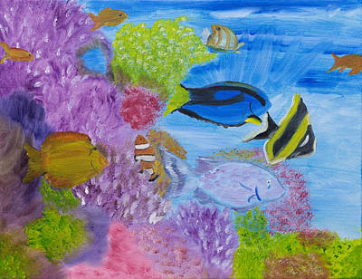 Corals Calling  Original by Meryl Goudey