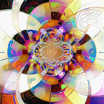Digital Art - Vivid Fractal by Bruce Rolff