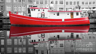 Photograph - Vivid Rich Red Boat by Vyacheslav Isaev