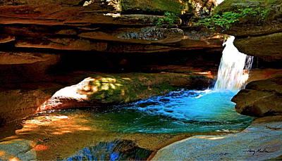 Photograph - Vivid Sabbaday Falls by Harry Moulton