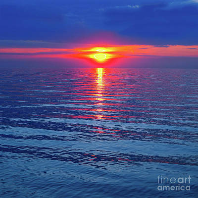 Photograph - Vivid Sunset - Square Format by Ginny Gaura