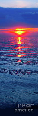 Photograph - Vivid Sunset - Vertical Format by Ginny Gaura
