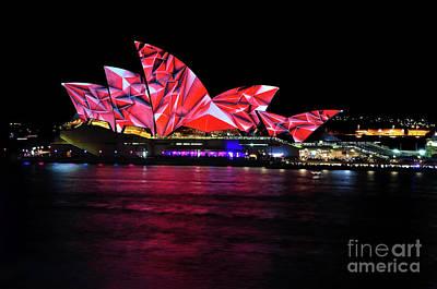 Photograph - Vivid Sydney 2014 - Opera House 3 By Kaye Menner by Kaye Menner