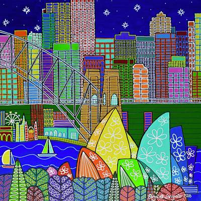 Painting - Vivid Sydney North by Elizabeth Langreiter