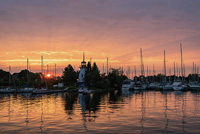Photograph - Vivid Yacht Club Sunrise -  by Georgia Mizuleva