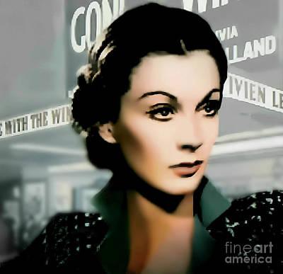 Vivien Leigh - Actress Art Print by Ian Gledhill