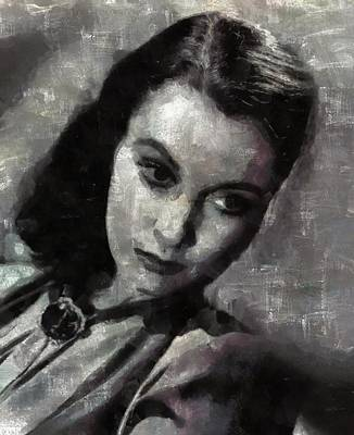 Vivien Leigh By Mary Bassett Art Print by Mary Bassett