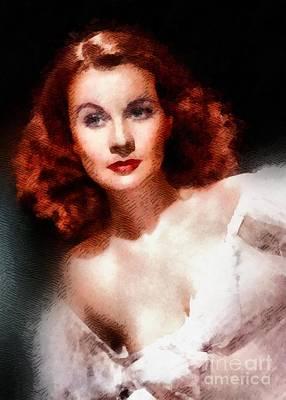 Elvis Presley Painting - Vivien Leigh Hollywood Actress by John Springfield