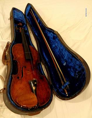 Photograph - Viv's  Violin by VIVA Anderson