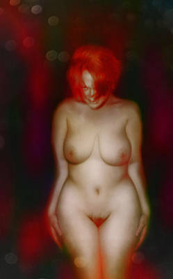 Digital Art - Vixen With The Red Hair by James Barnes